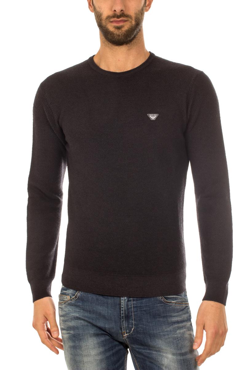 Maglia Maglione Armani Jeans AJ Sweater Pullover Lana Uomo Nero 6X6MF56M0LZ  1200   eBay